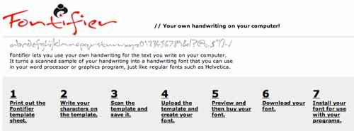 Recursos online para diseño tipográfico:  Fontifier