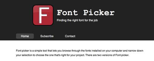 Recursos online para diseño tipográfico:  Font Picker