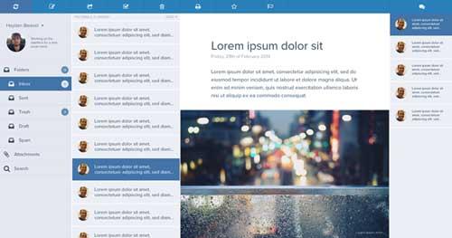 Ejemplos de rediseño de Gmail: Email Client Concept