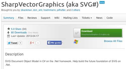 SVG Editor para crear gráficos vectoriales: Sharp Vector Graphics
