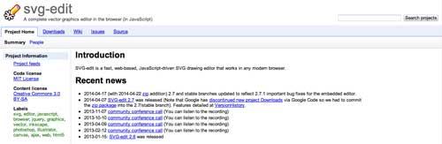 SVG Editor para crear gráficos vectoriales: SVG Edit