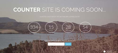 Template Bootstrap para sitios web variados: Counter