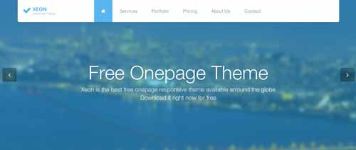 Template Bootstrap para sitios web variados: Xeon