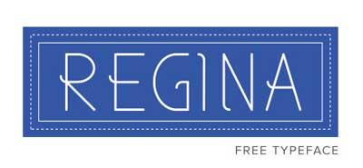 Tipografias gratis para tu diseño minimalista: Regina
