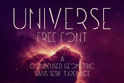 Tipografias gratis para tu diseño minimalista: Universe