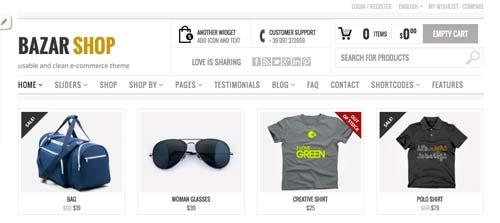 Woocommerce themes para tienda online: Bazar Shop