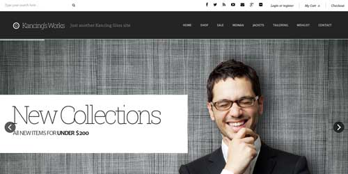 Woocommerce themes para tienda online: Kancing
