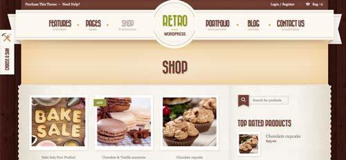 Woocommerce themes para tienda online: Retro