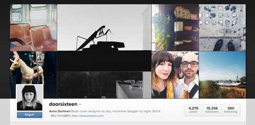 Cuenta Instagram de Anna Doorfman