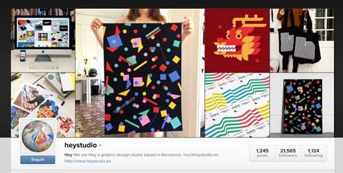 Cuenta Instagram de Hey Studio