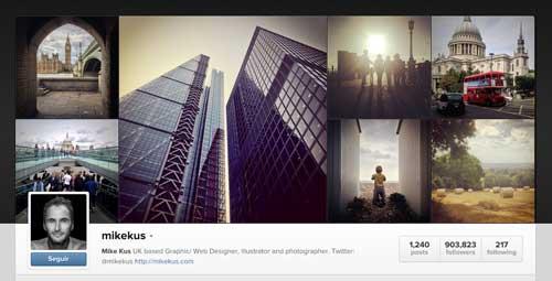Cuenta Instagram de Mike Kus