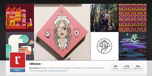 Cuenta Instagram de Ryan Bosse