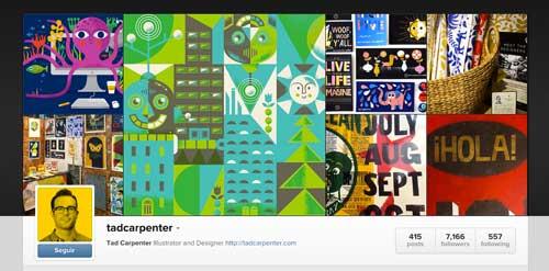 Cuenta Instagram de Tad Carpenter
