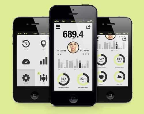 Uso de gráficos estadísticos en el desarrollo de aplicaciones moviles: Bicycle App