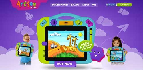 Uso de colores vibrantes en diseño de pagina web: ArtSee Studio