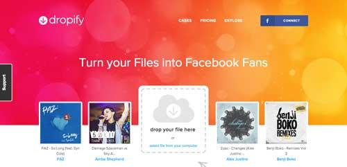 Uso de colores vibrantes en diseño de pagina web: Dropify