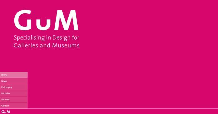 Uso de colores vibrantes en diseño de pagina web: GUM