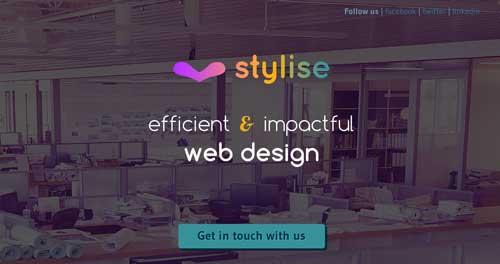 Uso de colores vibrantes en diseño de pagina web: Stylise