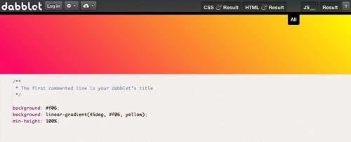 Editor HTML para previsualizar y compartir código: Dabblet