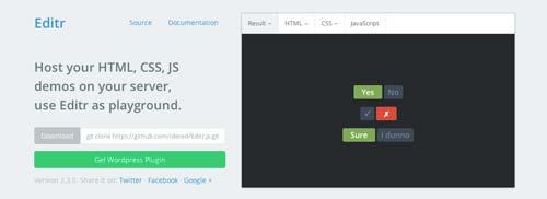 Editor HTML para previsualizar y compartir código: Editr