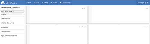 Editor HTML para previsualizar y compartir código: JSFiddle