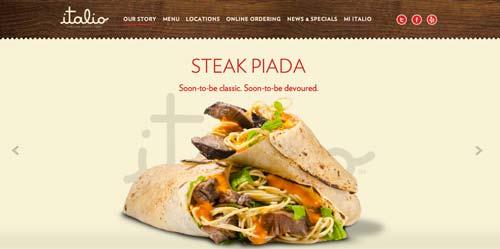 Ejemplos de paginas web que usan adecuadamente el scrolling: Italio