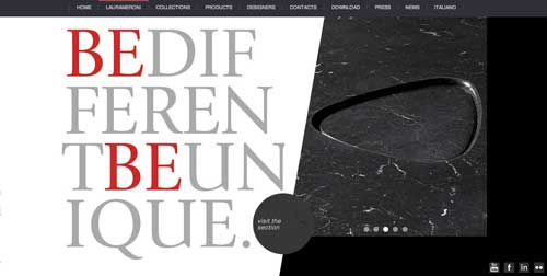 Ejemplos de paginas web que usan adecuadamente el scrolling: Laura Meroni