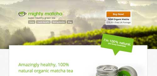 Ejemplos de paginas web que usan adecuadamente el scrolling: Mighty Matcha