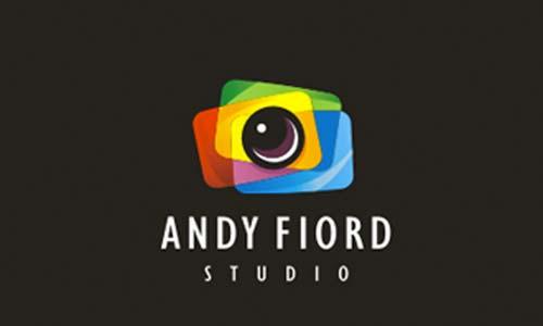 Ejemplos de diseño de logos coloridos: Andy Fiord