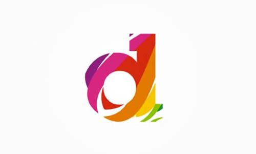 Ejemplos de diseño de logos coloridos:  D