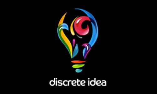 Ejemplos de diseño de logos coloridos: Discrete Idea