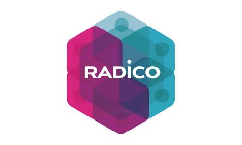 Ejemplos de diseño de logos coloridos: Radico