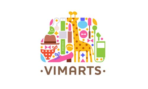 Ejemplos de diseño de logos coloridos: Vimarts