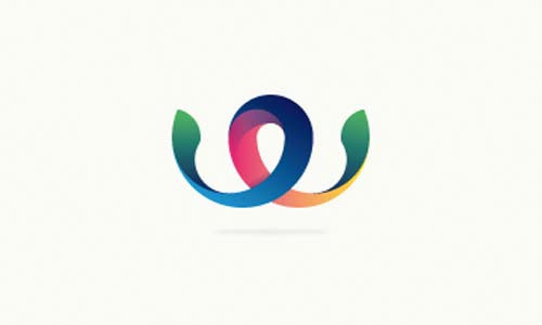 Ejemplos de diseño de logos coloridos: Weway