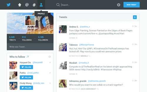 Ejemplos de rediseño de Twitter: Twitter Redesign