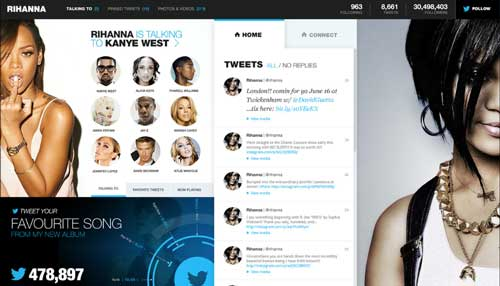 Ejemplos de rediseño de Twitter: Twitter Redesign de Fred Nerby
