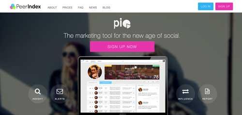 Herramientas de analitica web para Twitter: PeerIndex