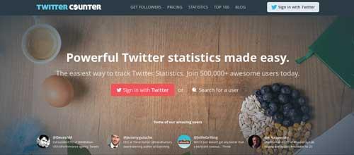 Herramientas de analitica web para Twitter: Twitter Counter
