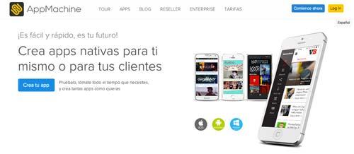 Herramientas para crear app móvil: AppMachine
