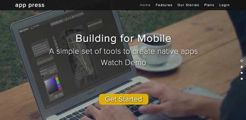 Herramientas para crear app móvil: App Press