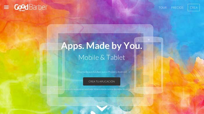 Herramientas para crear app móvil: Good Barber