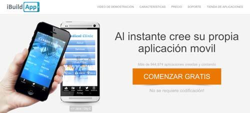 Herramientas para crear app móvil: iBuildApp