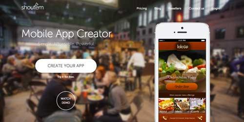 Herramientas para crear app móvil: Shout'em