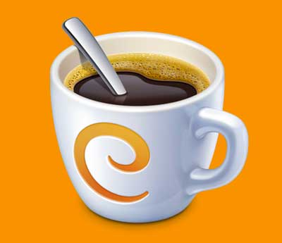 Ejemplos de iconos realistas de iOS app: Caffeinated