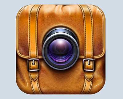 Ejemplos de iconos realistas de iOS app: Footnote