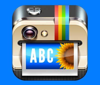 Ejemplos de iconos realistas de iOS app: Overgram