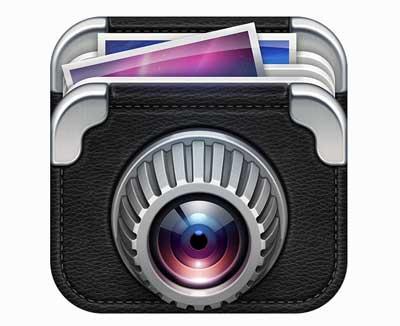 Ejemplos de iconos realistas de iOS app: Photo Fusion
