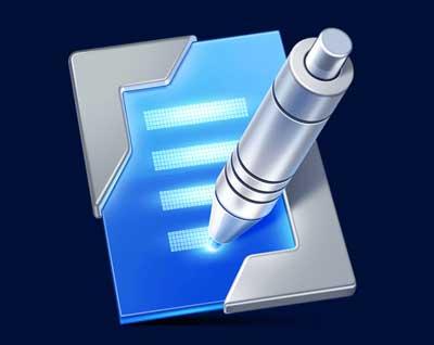 Ejemplos de iconos realistas de iOS app: Type Metal