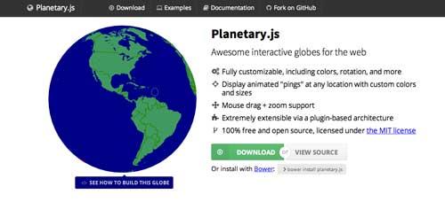 Librería de JavaScript plugin para gráficos estadísticos: Planetary.js
