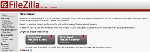 Lista de los mejores cliente FTP: Filezilla